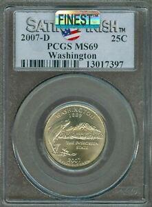 2007-D WASHINGTON QUARTER PCGS MS69 SF MAC FINEST & SPOTLESS *