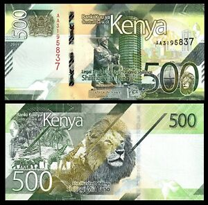 Kenya 500 Shillings P-NEW 2019 UNC Banknote