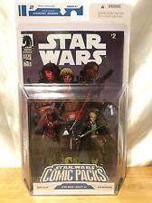 Star Wars Action Figure Comic Packs Darth Talon And Cade Skywalker  3.75 NIB