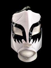 Mexican Wrestling Lucha Libre Mask Mascara de Luchador Cien Caras White & Black