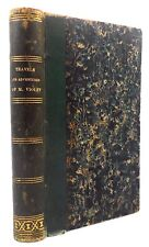 TRAVELS AND ADVENTURES OF MSSR VIOLET by Capt Marryat - 1844 Map leatherbound