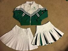 Cheerleading Uniform, Green/black/white, Upland High School