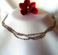 Pierre Lang Collierkette Collier Kette Halskette Silberfarben / dq 725