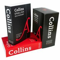 Children English Dictionary & Thesaurus 2 Books Collection Box Set By Collins