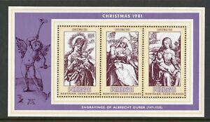 Penrhyn Islands   1981   Scott # 186a    Mint Never Hinged Souvenir Sheet