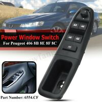 Left Electric Power Window Switch For Peugeot 406 8B 8E 8F 8C Driver