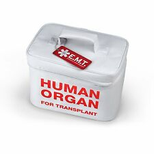 Foam-Insulated Food Bag White Red Human Organ Design Lunch Tote Travel Outdoor
