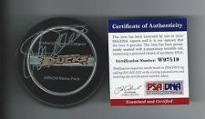 TEEMU SELANNE Signed Anaheim Ducks Official Game Puck PSA/DNA W97519