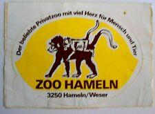 Souvenir-Aufkleber ZOO Hameln Weser Privatzoo 3250 am Klüt Affen Pavian 70er