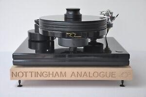 Personalised Solid Oak Turntable Levelling Isolation Plinth Platform, Audiophile