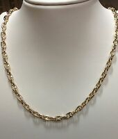 """10k Solid Yellow gold Anchor Mariner chain necklace 4.5MM 34 grams  23"""""""