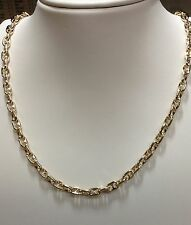 """18k Solid Yellow Gold Anchor Mariner chain necklace 4.5MM 33 grams  18"""""""