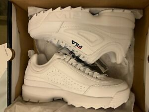 FILA Disruptor II Premium Wht/Nvy Red Sneakers Shoes 1FM00139-125 Men's Size 8.5