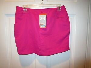 NWT UNDER ARMOUR Women's  Golf Skort NWT SIZE 4 All season gear hot pink