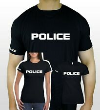Halloween T-Shirt Police Fancy Dress Mens Womens Funny Party Costume Adult Top