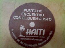 Posavasos de plastico del clasico Restaurante cafe Bar Haiti de Lima