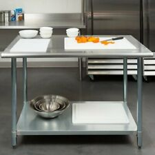 30 x 48 Stainless Steel Work Prep Table with Undershelf Kitchen Restaurant New