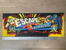 Atari Escape From The Planet of The Robot Monsters Mylar Marquee NOS