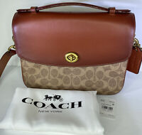 Coach Cassie Crossbody Bag In Signature Canvas Leather 68349 NEW $350