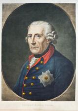 c1890 Friedrich II. Preußen Großes koloriertes Porträt in Heliogravüre