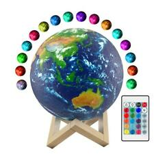 3D LED earth lamp Night light Dimmable/Touch/USB Bedside Adult/Kid/Child bedroom