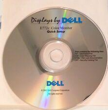 Dell E772c Color Monitor Quick Setup Disc 2002
