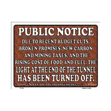 Sign - Light At End Of Tunnel Funny Novelty Wall Art Decor