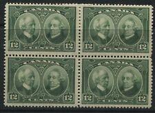 Canada KGV 1927 12 cents Laurier-MacDonald block of 4 mint o.g.