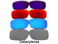 Galaxy Replacement Lenses For Oakley Crankcase Titanium&Blue&Red&Purple 4 Pairs