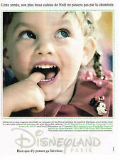 PUBLICITE ADVERTISING 094  1994  DISNEYLAND PARIS   son plus beau cadeau
