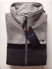 Men's Armani Jeans Jumper Sweater Zipper Long Sleeve Grey Size XL RRP £135.00