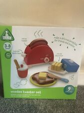 ⭐️ELC Wooden Play Toaster Food Playset Kitchen Role Play Toys Velcro Chopping⭐️