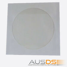 100 X CD / DVD Paper Sleeves With Clear Window