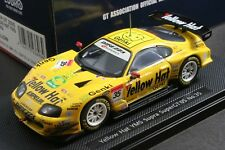 EBBRO 43696 1:43 YELLOW HAT YMS TOYOTA TOM'S SUPRA SUPER GT 2005 DIE CAST MODEL