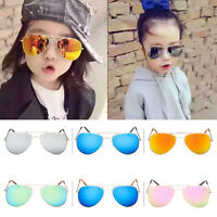 Retro Fashion Children Kids Boys Girls Students Aviator Sunglasses Eyewear UV400