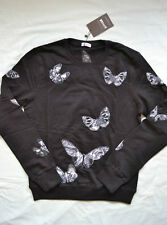 BNWT MENS VALENTINO EMBROIDERED BUTTERFLY SWEATSHIRT SIZE XL BLACK JUMPER