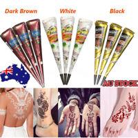 Henna Tattoo Gift Set , Mehndi Kit , Paste Cone w/ 200Pc Tattoo Glitter