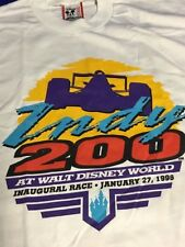 Indianapolis Indy 500 Vintage 1996 DISNEY WORLD 200 Starting Field T-Shirt LARGE