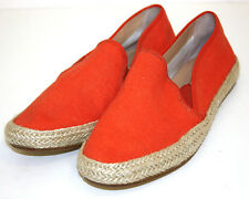 Belle By Sigerson Morrison Nudie2 Leather Soles Espadrilles Orange Womens 8.5 B