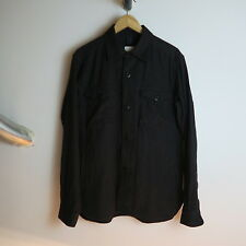 TS(S) Stripe Chore Work Jacket  Black Grey Engineered Garments BEDFORD Coat L