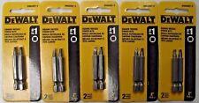 """Dewalt DWA2SQ1-2 #1 Square x 2"""" Recess Power Drive Screw Bits 5-2 Pks"""