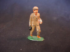 Old Vtg Lead School Boy Carrying Lunch Box And Book Train Garden Figure