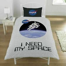 NASA I NEED MY SPACE SINGLE DUVET COVER SET NEW ASTRONAUT QUILT SET BRAND NEW