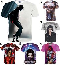 New 3D Michael Jackson White T-Shirt Music All Big Size Black Men Women Hip Hop