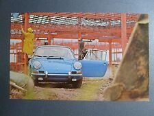 1965 Porsche Blue 911 Coupe Postcard Post Card RARE!! Awesome L@@K