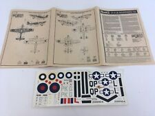 Revell Mustang P-51B Mustang III 3 Model Kit PLANS & DECAL ONLY
