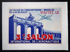 Rare Vintage 3e Salon International de l'Aeronautique Transportation Poster