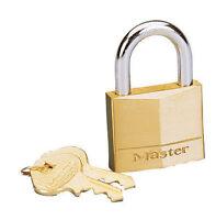 Master Lock  1-9/16 in. 4-Pin Cylinder  Brass  Padlock