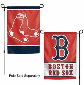 Boston Red Sox 2 Sided Double Garden Flag Outdoor Window Banner 12 x18 New