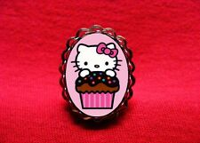 HELLO CUPCAKE KITTY CAKE BAKERY KAWAII RING EMO